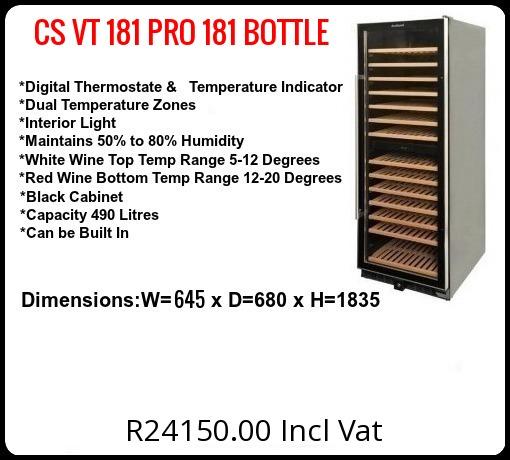 CS-VT181 PRO-181 Bottles