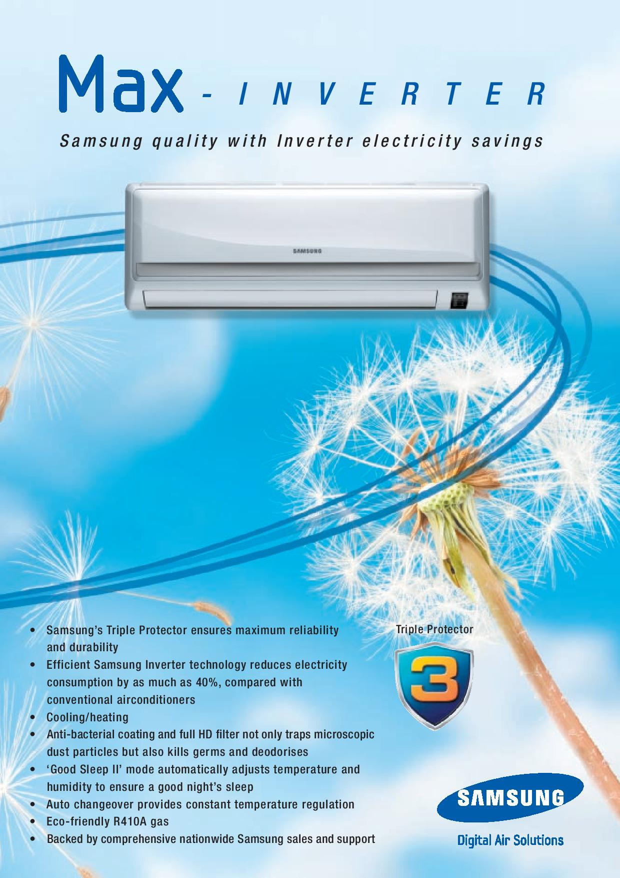 inverter pdf brochure click here to view samsung ar 9000 inverter pdf #084991