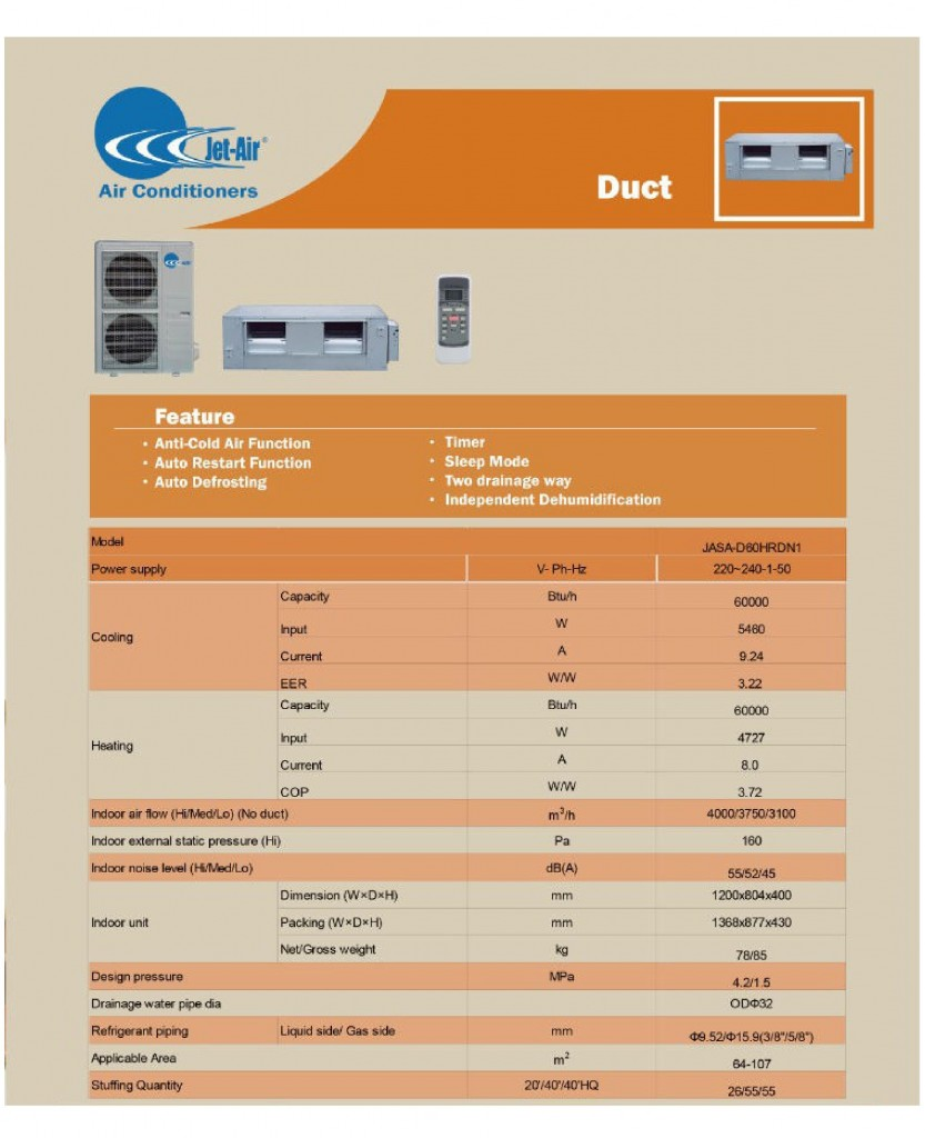 JET AIR DUCTED SPLIT INVERTER PAGE 2
